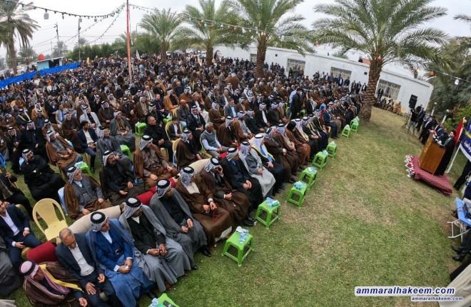 السيد عمار الحكيم يدعو عشائر بابل الى حث الجمهور على المشاركة الواسعة والفاعلة والواعية في الانتخابات القادمة