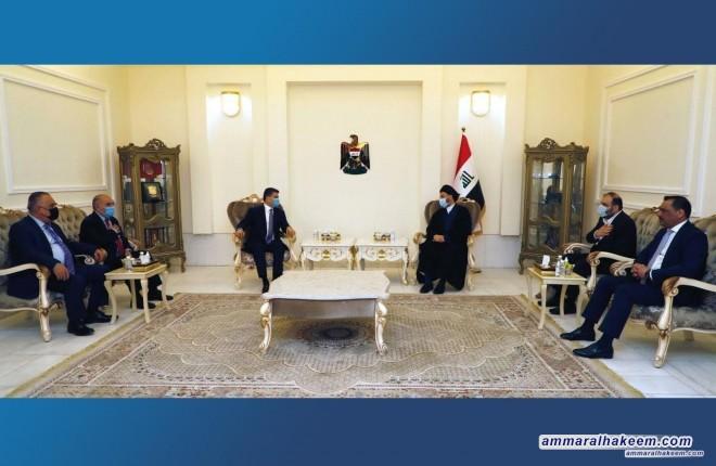 السيد عمار الحكيم يبحث مع الاستاذ لاهور الشيخ جنكي تطورات المشهد السياسي والعلاقة بين بغداد واربيل