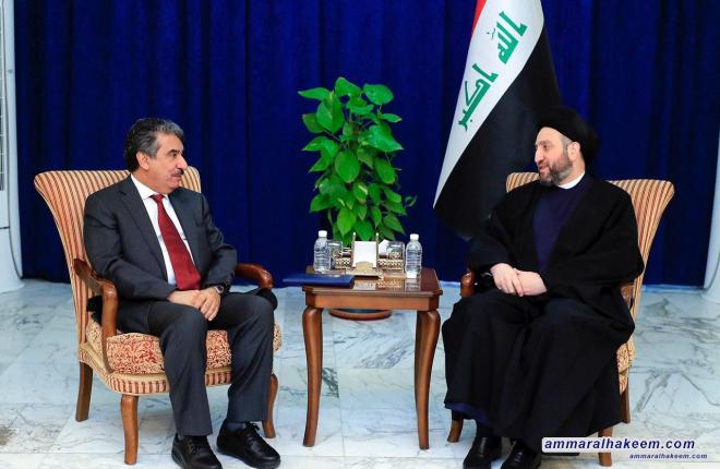 السيد عمار الحكيم يبحث مع السفير الكويتي مستجدات الاوضاع السياسية في المنطقة