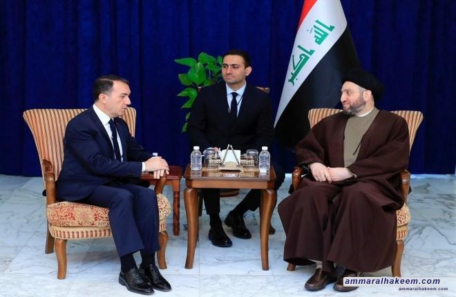 السيد عمار الحكيم يستقبل سفير تركيا ويبحث معه مستجدات الوضع السياسي في المنطقة