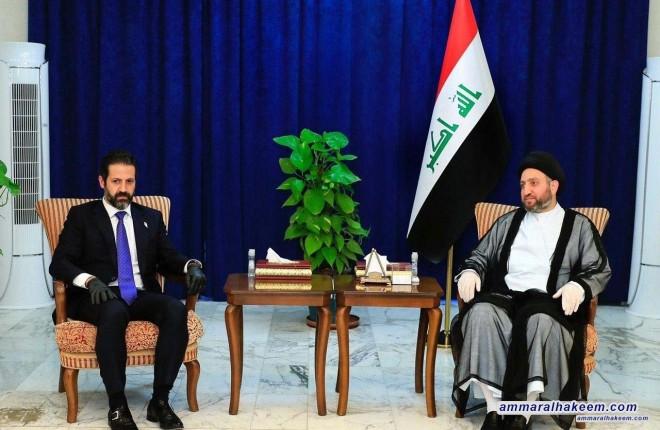 السيد عمار الحكيم يستقبل الوفد الكردي برئاسة قوباد طالباني ويشدد على الحوار لإنهاء الخلافات بين بغداد واربيل