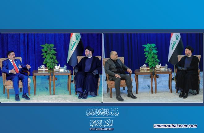 السيد عمار الحكيم يستقبل وزيري الدفاع والاتصالات كل على حدة ويبحث معهما التحديات التي تواجه حكومة الكاظمي
