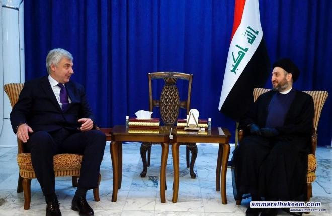 السيد عمار الحكيم يبحث مع السفير الروسي تطورات المشهد السياسي في العراق والمنطقة والعالم