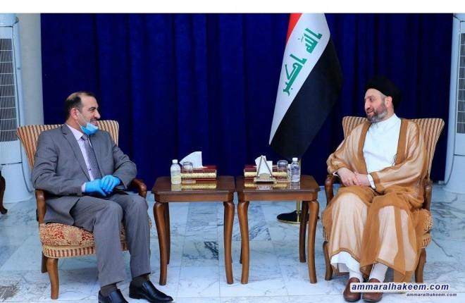 السيد عمار الحكيم يبحث مع وزير التخطيط ملفات الاحصاء وتوفير فرص العمل للشباب'