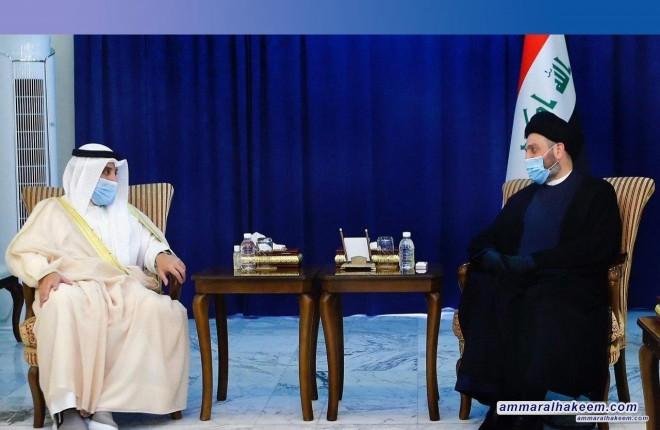 السيد عمار الحكيم يبحث مع وزير الخارجية الكويتي القضايا ذات الاهتمام المشترك بين العراق والكويت