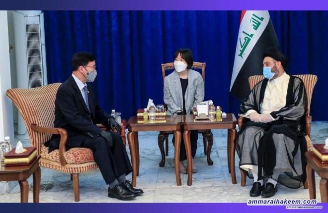 السيد عمار الحكيم يبحث مع السفير الكوري الجنوبي العلاقات الثنائية بين بغداد وسيؤل