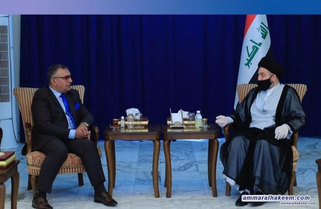 السيد عمار الحكيم يشدد على استقلالية مجلس الخدمة الاتحادي ويجدد دعمه له