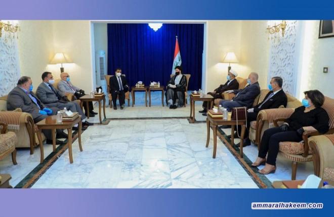 السيد عمار الحكيم يستقبل وفد تحالف العراق للكرد الفيليين