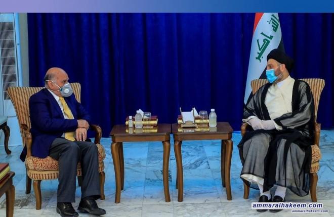 السيد عمار الحكيم يبحث مع وزير الخارجية العراقية الية الحفاظ على سياسية التوازن في علاقات العراق