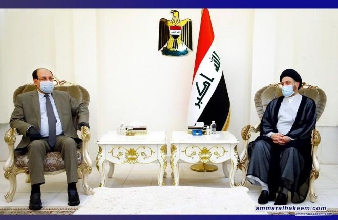 السيد عمار الحكيم يبحث مع المالكي مستجدات الوضع السياسي