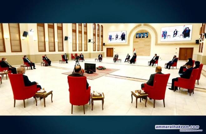بحضور عدد من قيادات تحالف عراقيون .. السيد عمار الحكيم يستقبل وزير الخارجية الايرانية جواد ظريف