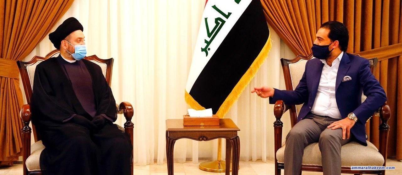 السيد عمار الحكيم يبحث مع الحلبوسي الواقع السياسي والاداء التشريعي والرقابة للبرلمان