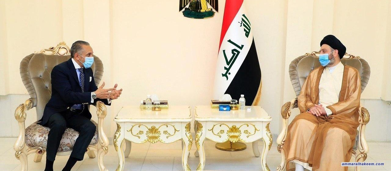 السيد عمار الحكيم يبحث مع السفير المصري العلاقات الثنائية وتطورات المشهد السياسي العربي