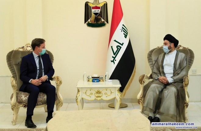 السيد عمار الحكيم يبحث مع السفير البريطاني مستجدات الاوضاع السياسية وازمة كورونا