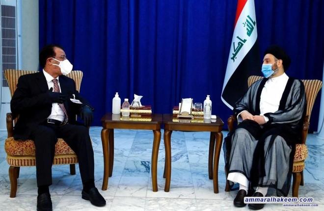 السيد عمار الحكيم : تسديد مستحقات الفلاحين افضل دعمه تقدمه الحكومة للفلاح لادامة الانتاج