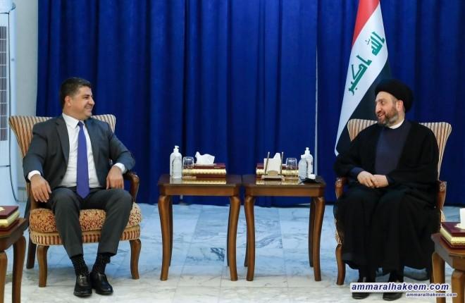 السيد عمار الحكيم يبحث مع لاهور جنگي التحديات التي تواجه العراق والانتخابات القادمة