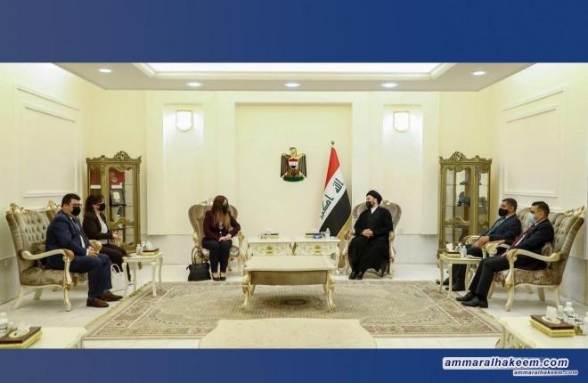 السيد عمار الحكيم يبحث مع وفد الحزب الديمقراطي الكردستاني مستجدات الاوضاع السياسية بحضور قيادات من تحالف عراقيون
