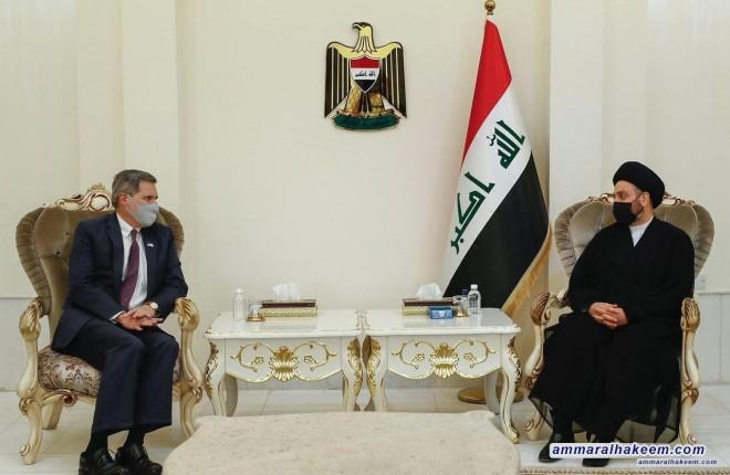 السيد عمار الحكيم يستقبل السفير الاميركي في بغداد ويدعو الى علاقات اقتصادية متوازنة بين بغداد وواشنطن