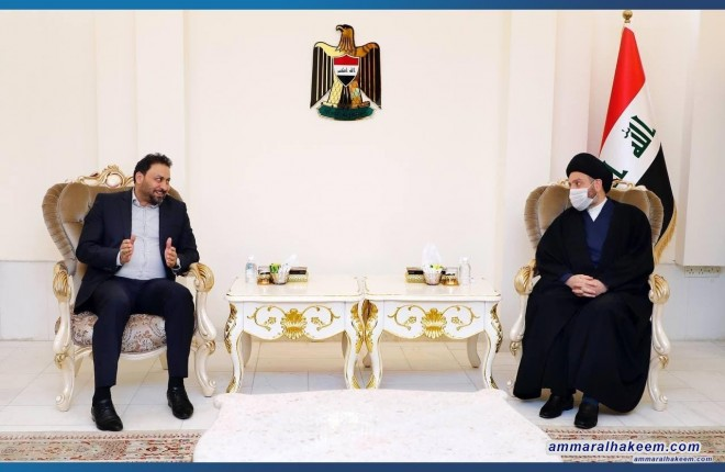 السيد عمار الحكيم يبحث مع النائب الاول لرئيس مجلس النواب وعدد من النواب القوانين ذات التماس بالشأن الانتخابي