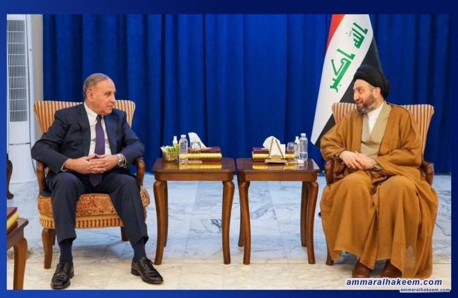 السيد عمار الحكيم يستقبل الهيئة السياسية لتحالف عزم ويشدد على تغليب المصلحة العامة