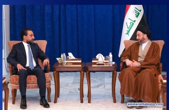 السيد عمار الحكيم يستقبل رئيس تحالف تقدم ويشدد على تجنب الانسداد السياسي بسبب نتائج الانتخابات