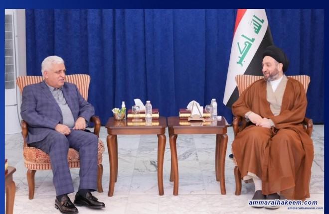 السيد عمار الحكيم يستقبل الفياض ويشدد على تغليب المصلحة العامة على المصالح الخاصة