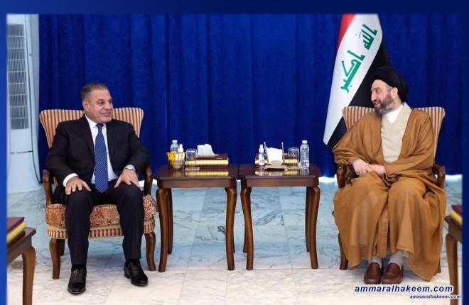 السيد الحكيم يلتقي رئيس حزب الجماهير ويؤكد أهمية توحيد الموقف تجاه الاستحقاقات القادمة