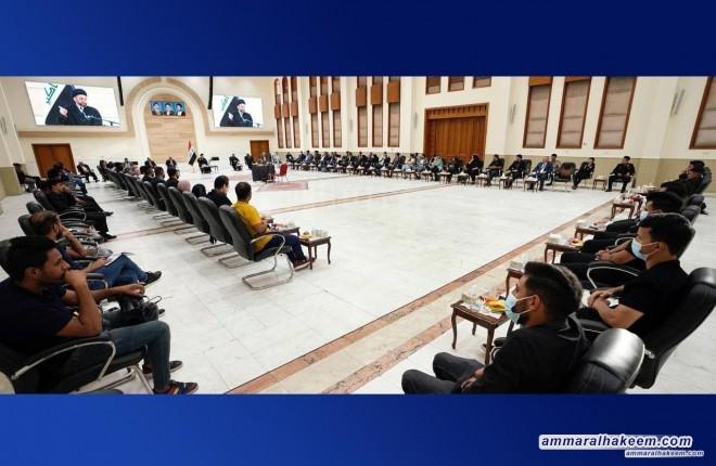 Sayyid Ammar Al-Hakeem receives president & members of ARABUEM, emphasizes freedom of expression & sanctities preservation