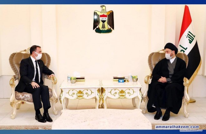 السيد عمار الحكيم يبحث مع سفير تركيا تطورات المشهد السياسي والعلاقات الثنائية