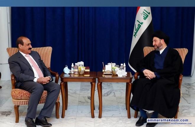 السيد عمار الحكيم يبحث مع وزير النقل واقع النقل في العراق ويشدد على انشاء ميناء الفاو الكبير