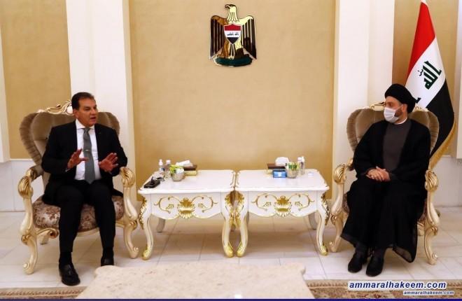 السيد عمار الحكيم يستقبل وفدا عربيا من النخب والكفاءات السياسية والثقافية ويبحث معهم مستجدات الوضع السياسي في العراق