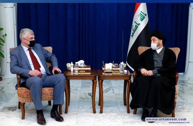 السيد عمار الحكيم للسفير الروسي .. ندعم الرقابة الدولية على الانتخابات العراقية شرط احترام السيادة العراقية