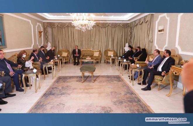 السيد عمار الحكيم يبحث مع القيادة المشتركة للاتحاد الوطني الكردستاني تطورات المشهد السياسي