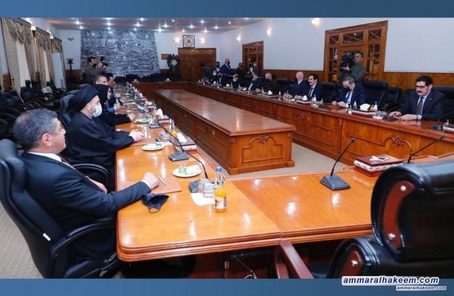 السيد عمار الحكيم يبحث مع المكتب السياسي للحزب الديمقراطي الكردستاني تطورات المشهد السياسي