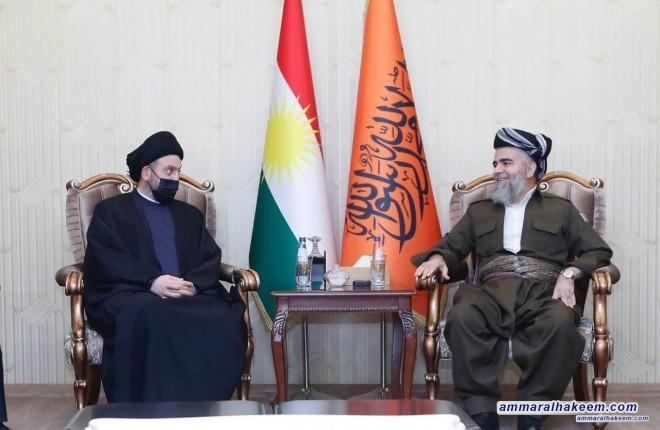 السيد عمار الحكيم يهنئ حركة العدل الكردستانية بنجاح مؤتمرها الرابع