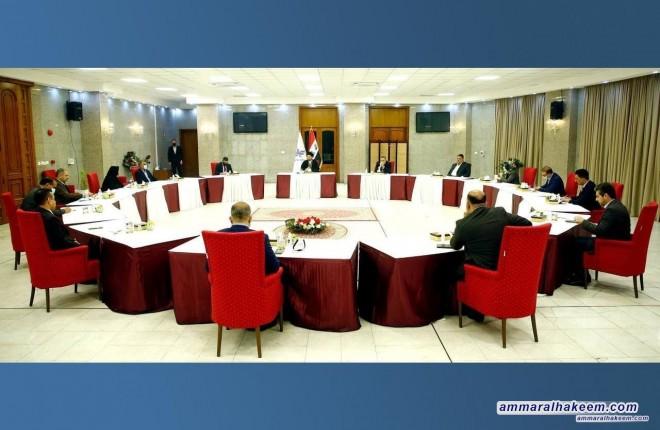 الهيأتين القيادية والسياسية لتحالف عراقيون تجتمعان برئاسة السيد عمار الحكيم وتبحثان المواد المدرجة على جدول الاعمال