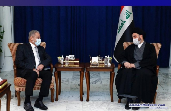 السيد عمار الحكيم يبحث مع رئيس جهاز الامن الوطني مستجدات الوضع الامني في العراق