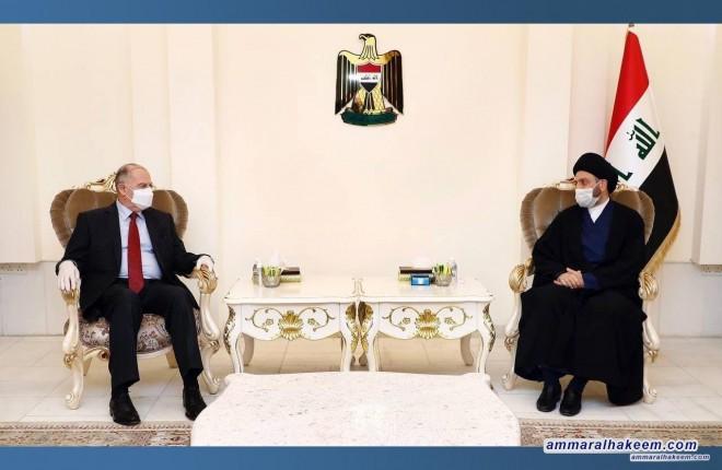 السيد عمار الحكيم يبحث مع النجيفي الانتخابات المبكرة والتحالف العابر للمكونات وتعزيز سلطة الدولة
