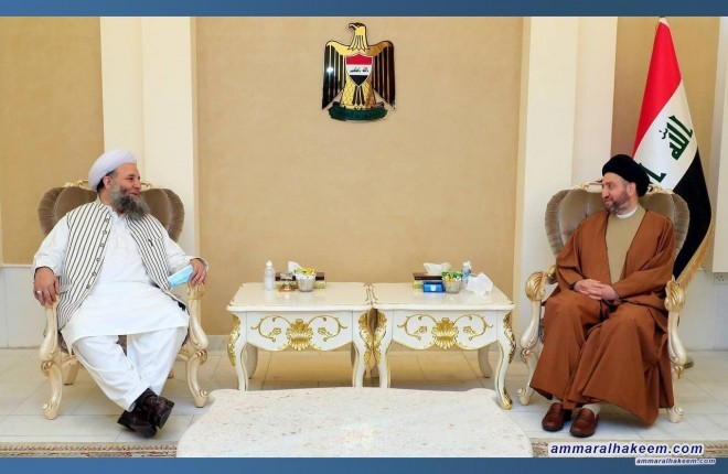 السيد عمار الحكيم يبحث مع وزير الشؤون الدينية حوار الاديان وادارة التنوع