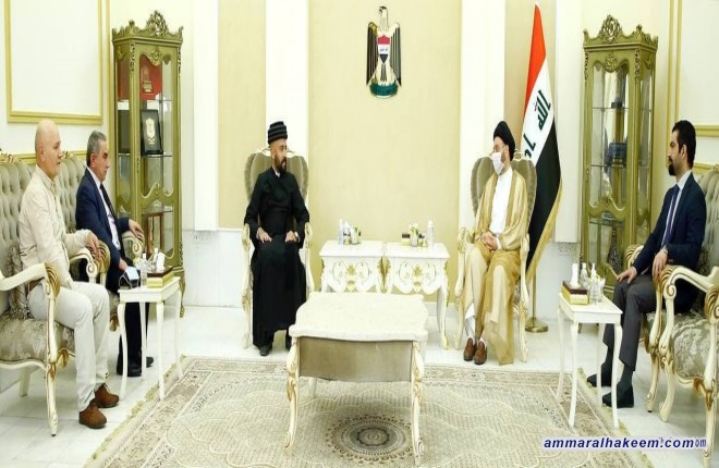 Sayyid Ammar Al-Hakeem discusses Iraq diversity management with Eastern Church delegation