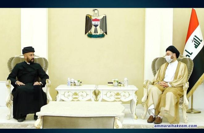 السيد عمار الحكيم يبحث مع وفد الكنيسة الشرقية ادارة التنوع في العراق