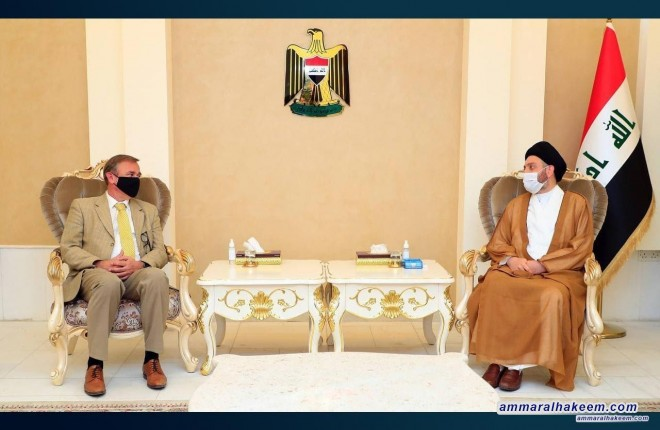 السيد عمار الحكيم يبحث مع السفير الهولندي العلاقات الثنائية وتبادل الخبرات بين البلدين