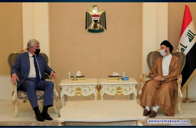 Sayyid Ammar Al-Hakeem Receives Russian Ambassador, looks Into Bilateral Relations Between The Countries