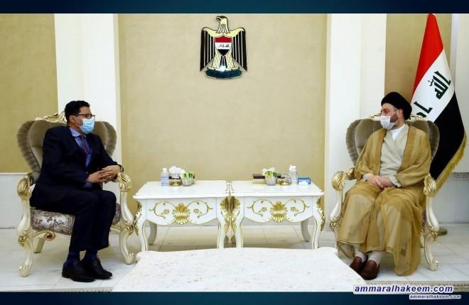 السيد عمار الحكيم يستقبل السفير الموريتاني في بغداد