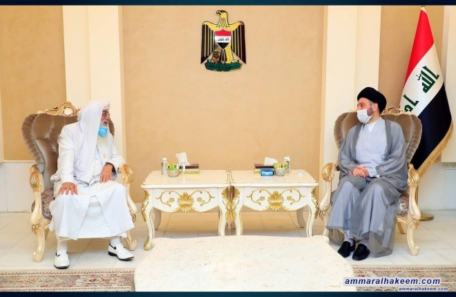 السيد عمار الحكيم يستقبل رئيس طائفة الصابئة المندائية في العراق