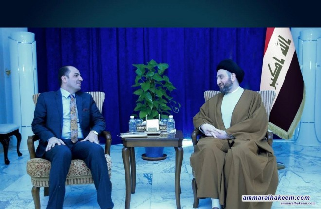 Sayyid Ammar Al-Hakeem Receives Parliament Member Saib Khedar