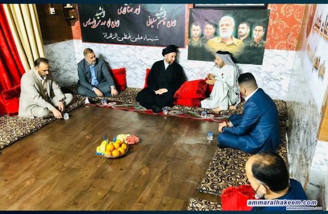 Sayyid Ammar Al-Hakeem Visits Martyrs Mazin, Jassim Shubber, and War Cameraman Ahmed Al-Muhanna's Families