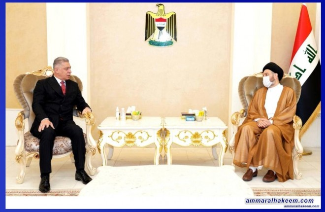 Sayyid Ammar Al-Hakeem discusses several Iraqi cases with house of representative's member Arshad Al-Salihi