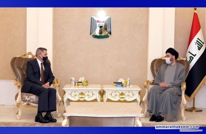 السيد عمار الحكيم يستقبل السفير الامريكي لدى بغداد