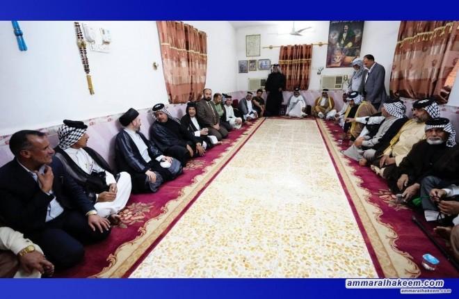 Maysan: Sayyid Ammar Al-Hakeem offers condolences on Sheik Madhi Mahdi Al-Abbousi